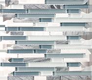 Glass + Stone Blend Mosaics Waterfall Random Strip Mosaic