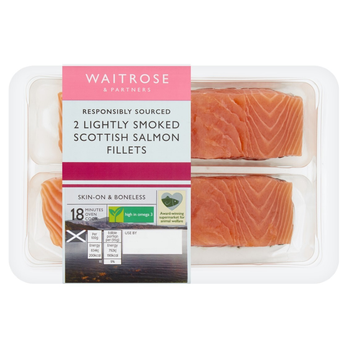 2 Lightly Smoked Scottish Salmon Fillets
