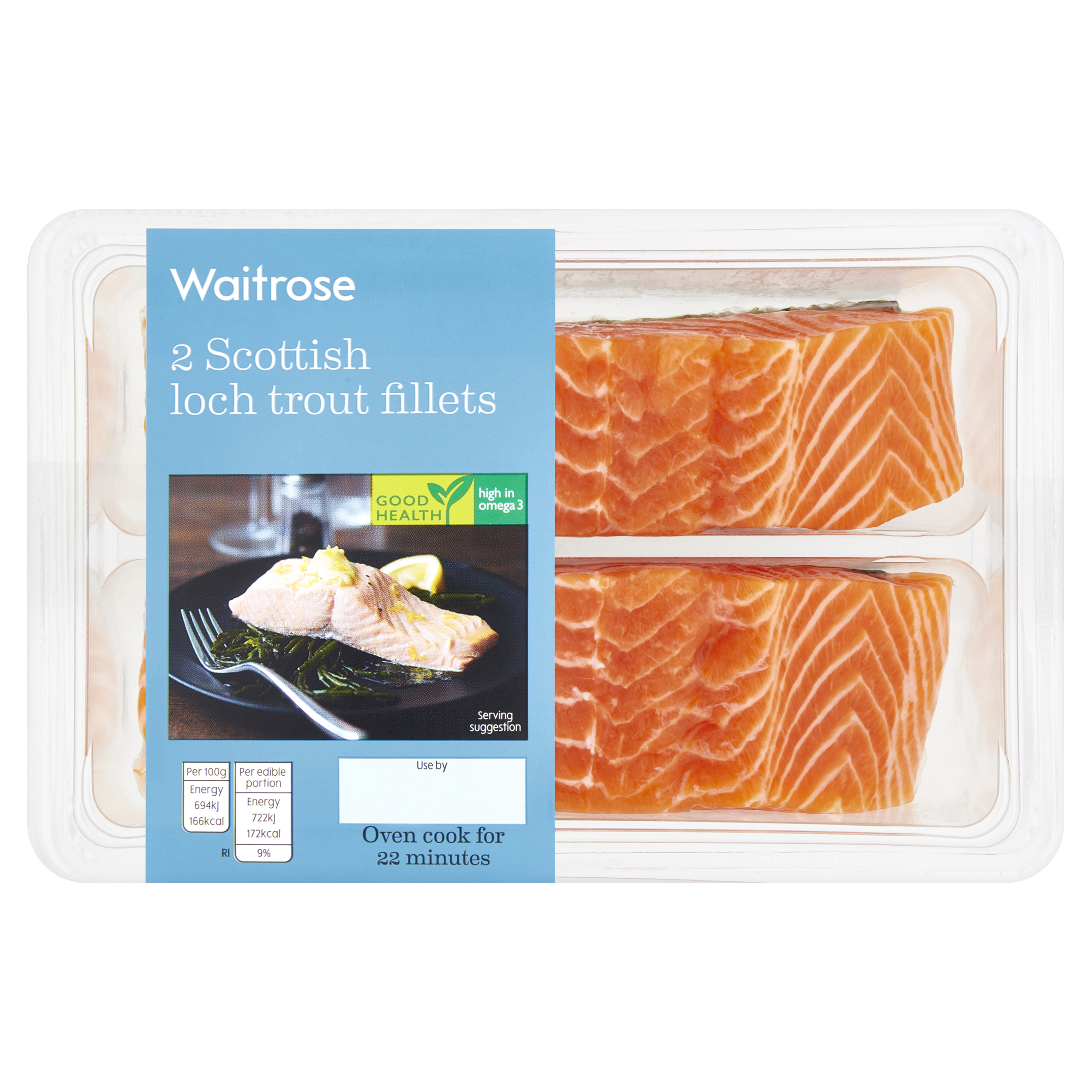 2 Scottish Loch Trout Fillets
