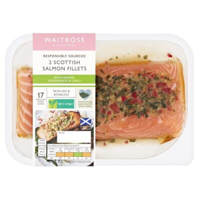 2 Salmon Fillets in Thai Marinade