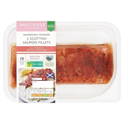 2 Salmon Fillets with Tomato & Red Chilli