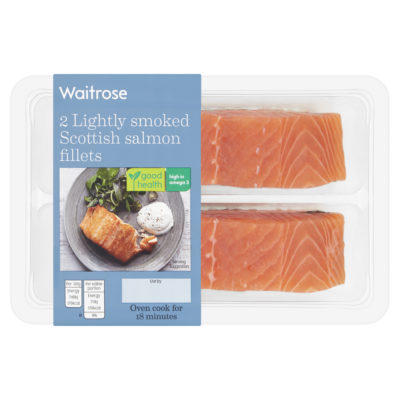 2 Lightly Smoked Scottish Salmon Fillets