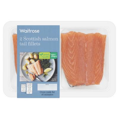 2 Scottish Salmon Tail Fillets