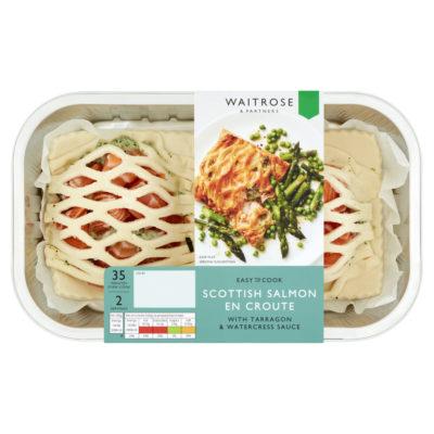 Scottish Salmon En Croute with Tarragon & Watercress