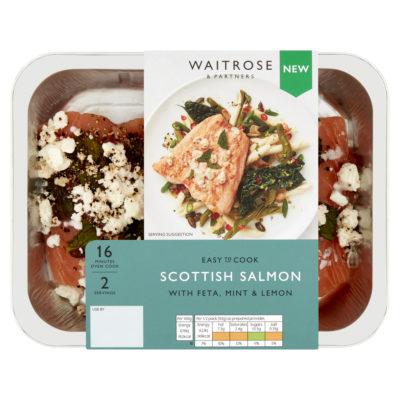 Scottish Salmon with Feta, Mint & Lemon