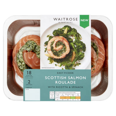 Scottish Salmon Roulade with Ricotta & Spinach