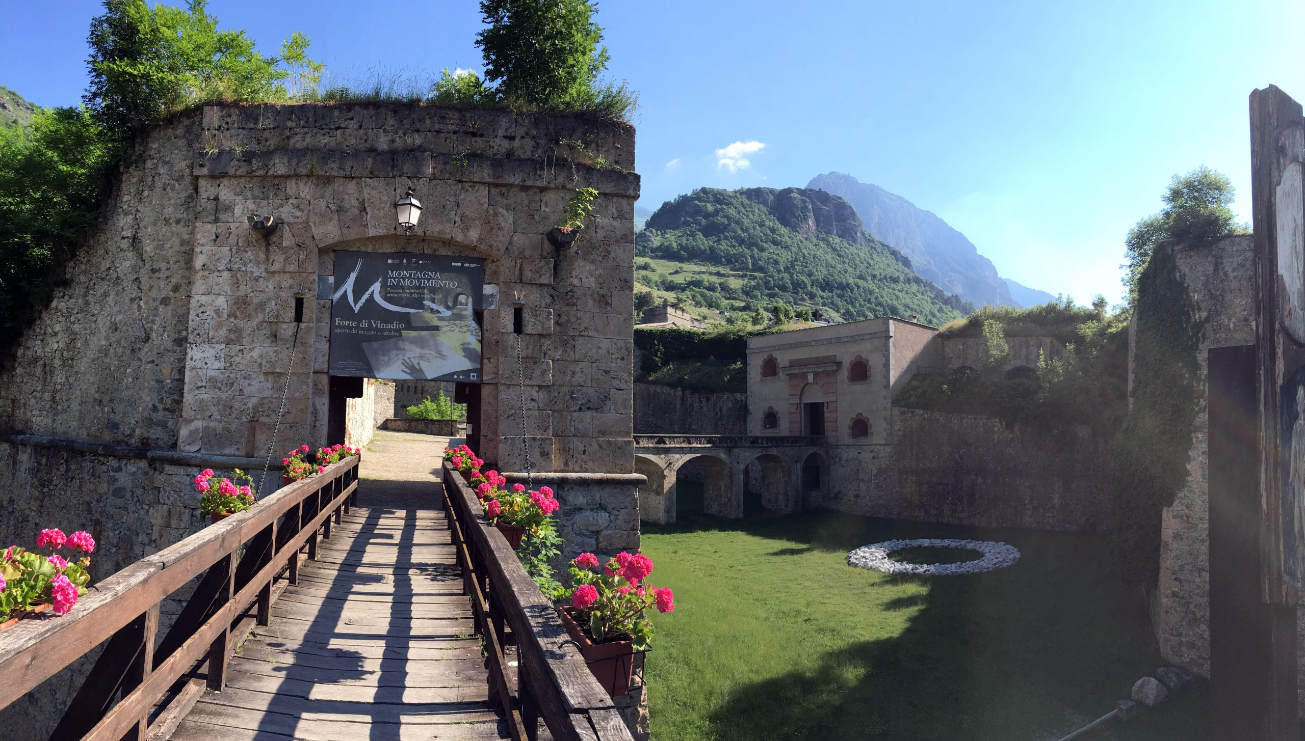 L'ingresso del Forte di Vinadio (Foto di Mauro Garello)