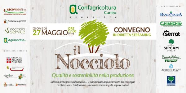 """L'invito al convegno on line """"Il Nocciolo. Qualità e sostenibilità nella produzione"""" di Confagricoltura Cuneo"""