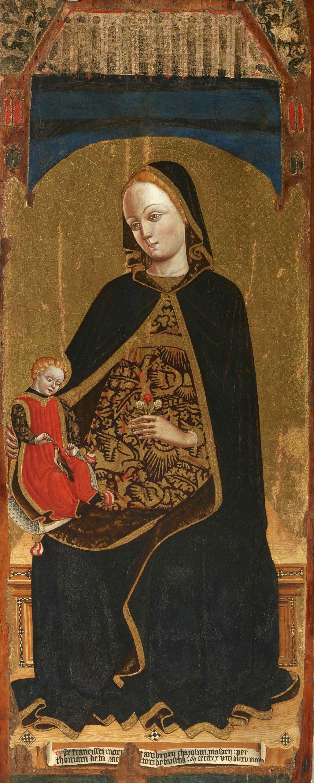 Tommaso Biazaci, Madonna con Bambino, 1478, Tempera su tavola di pioppo - Genova, Museo Sant'Agostino