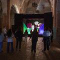 """Un momento delle visite guidate alla mostra """"E luce fu"""""""
