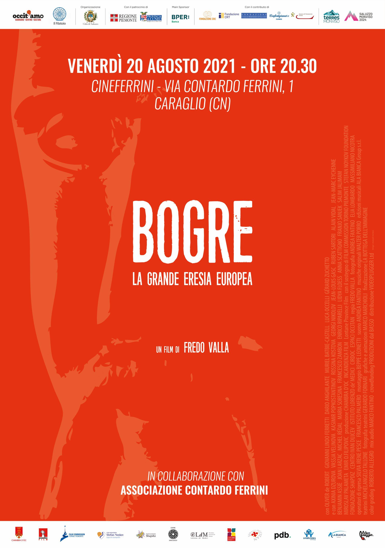 Il manifesto del docu-film Bogre, in proiezione venerdì 20 agosto a Caraglio