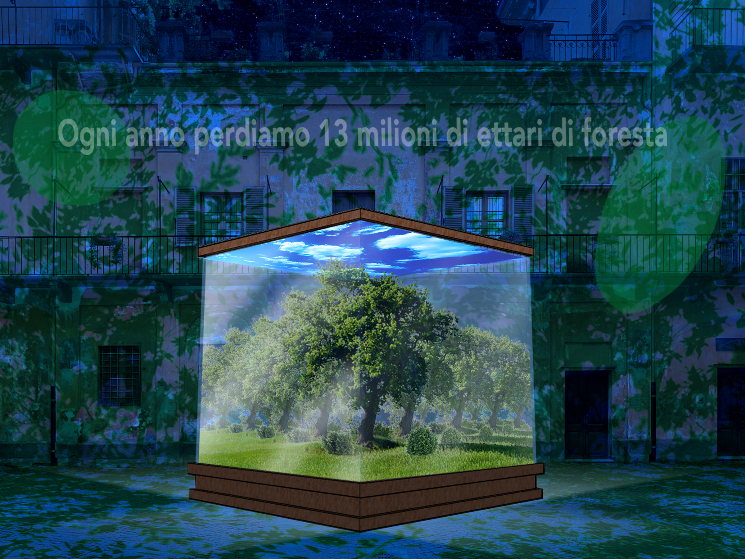 Cuneo: nel cortile del Complesso di Santa Croce si ragiona sulla deforestazione (Cuneo Provincia Futura)