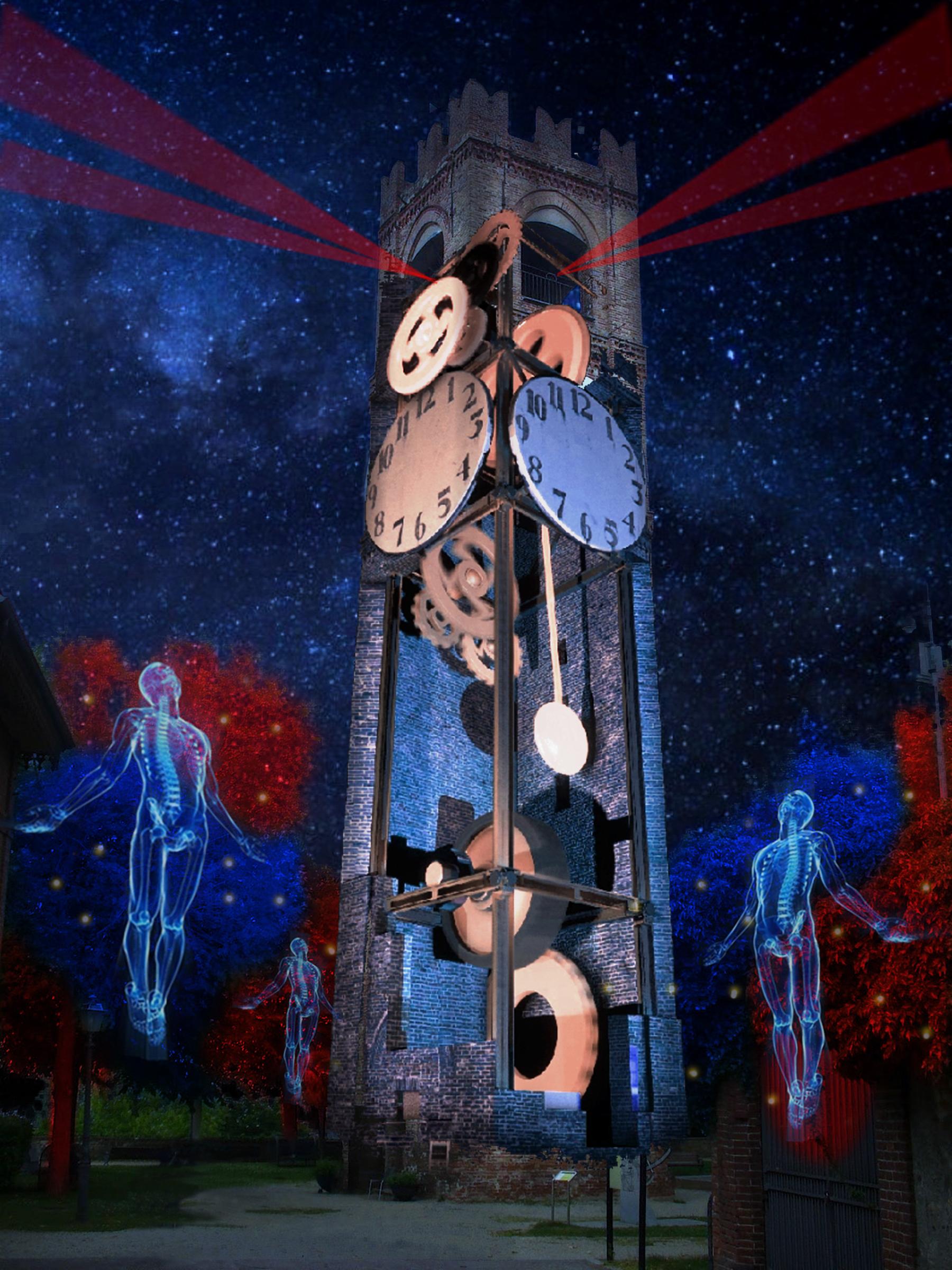Mondovì: sulla Torre Civica del Belvedere, la videoinstallazione è dedicata al tema del tempo (Cuneo Provincia Futura)