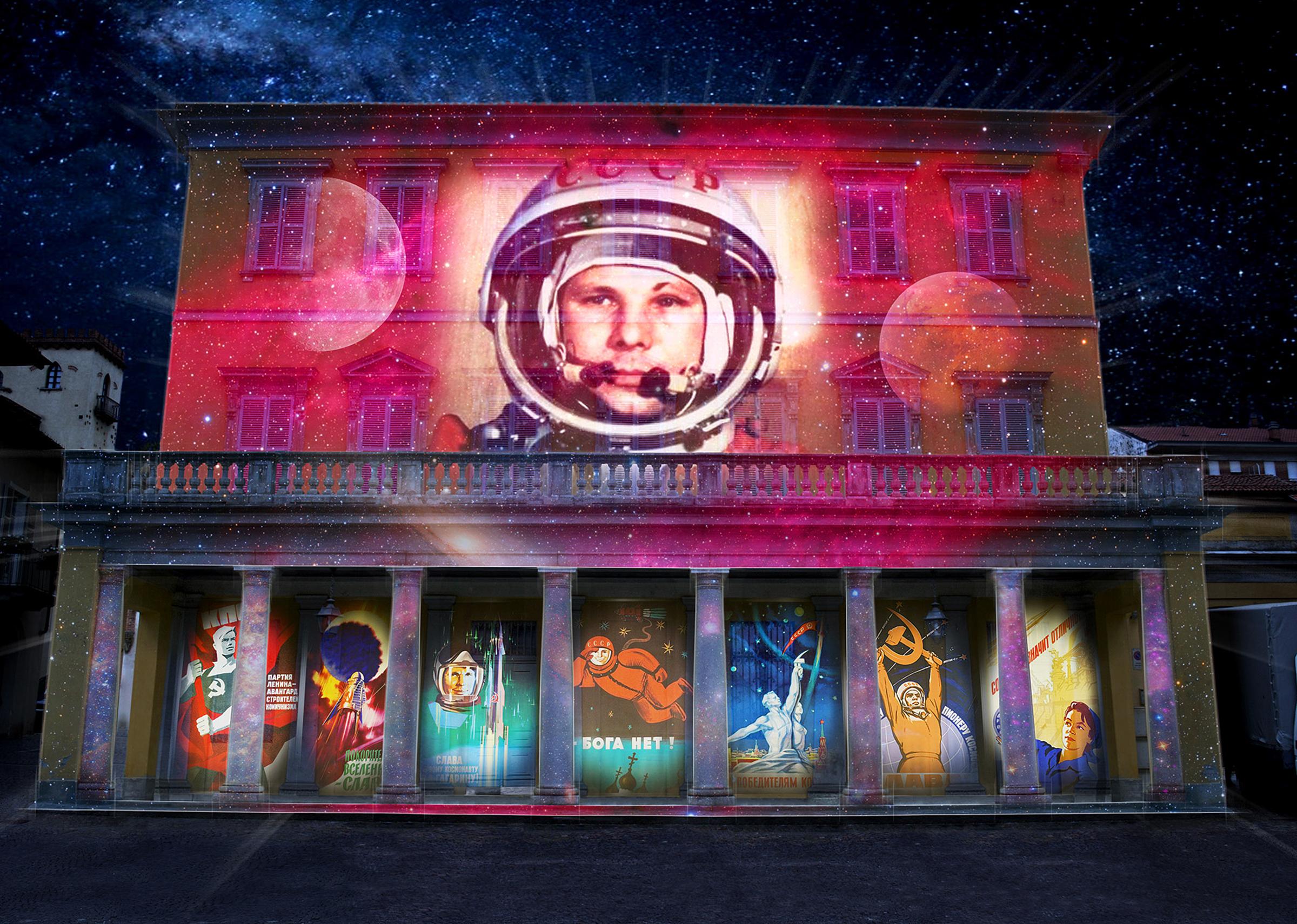 Bra: su Palazzo Garrone una videoinstallazione sulle conquiste spaziali, da Galileo a Marte (Cuneo Provincia Futura)