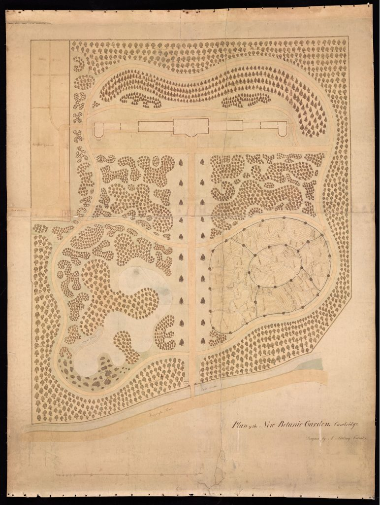 Murray's original map of the Garden