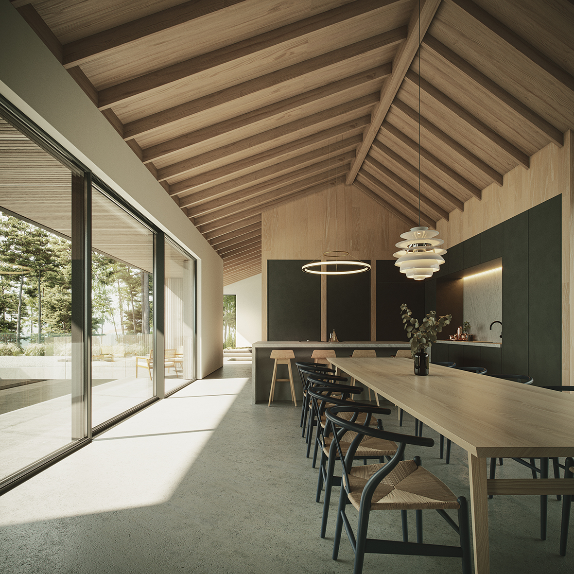 Brown and Brown Cairngorms Architects Courtyard KITCHEN