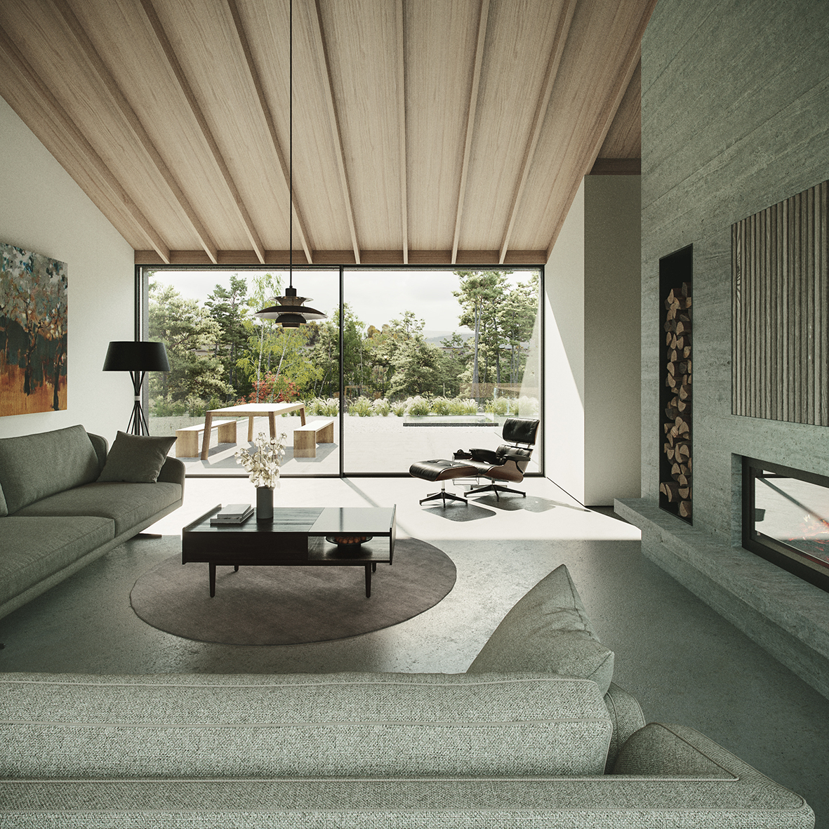 Brown and Brown Cairngorms Architects Courtyard LIVING SPACE