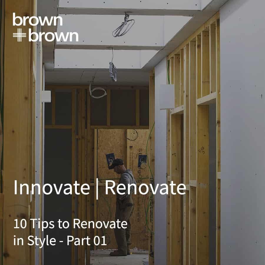 Innovate renovate part 01