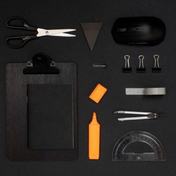 Vierkant markeren zwart oranje 1