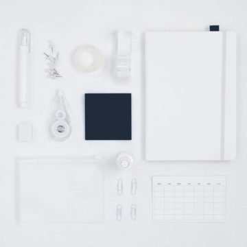 Vierkant projectmanagement wit blauw