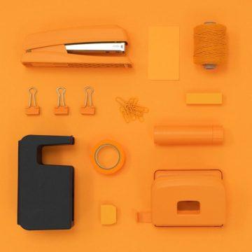 Vierkant verbinden oranje zwart