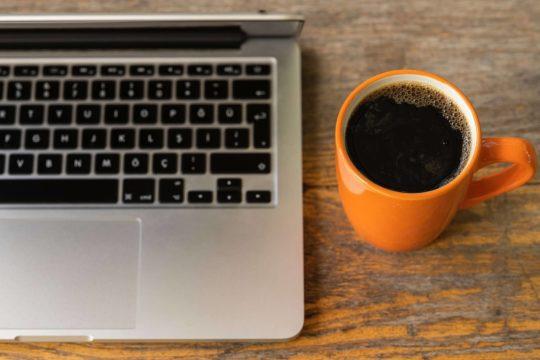 Coffee mug webinar ready