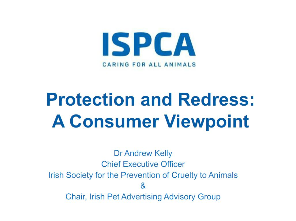 Protection and Redress: A Consumer Viewpoint