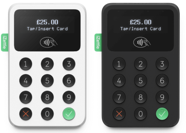 iZettle black and white card readers