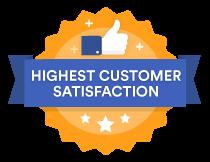Highest Customer Satisfaction Badge