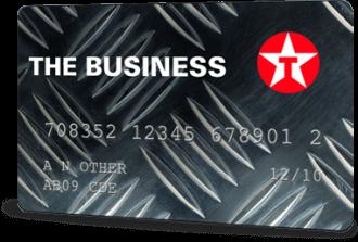 texaco the business card