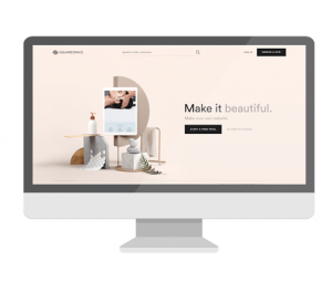 squarespace desktop homepage