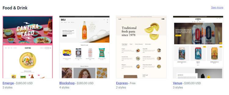 Shopify ecommerce themes
