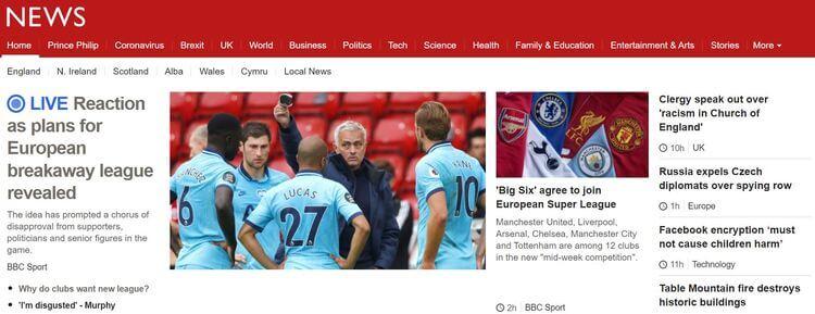 bbc news website