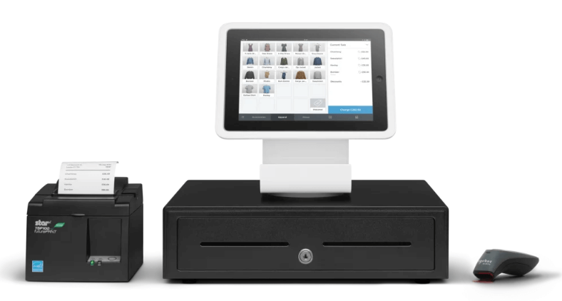 Square stand and EPOS system