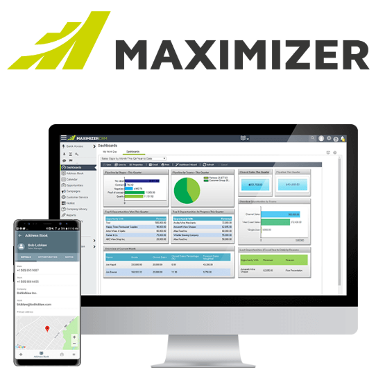 Maximizer Logo and Interface