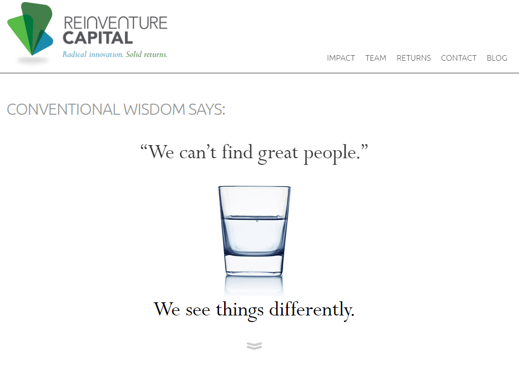 reinventure capital best financial web design