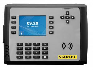 stanley security clocking in device