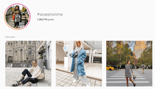 #asseenonme instagram page