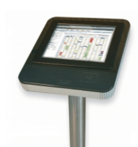 bodet touch screen clocking in terminal