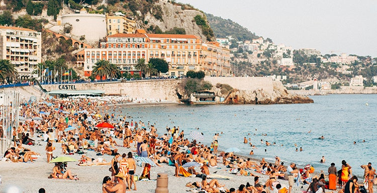 A beach in Nice