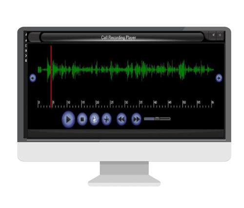 Call recording interface on a desktop