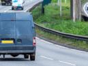 Van driving down a motorway