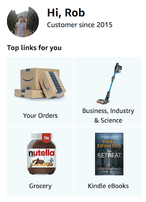 Amazon Prime CRM recommendations