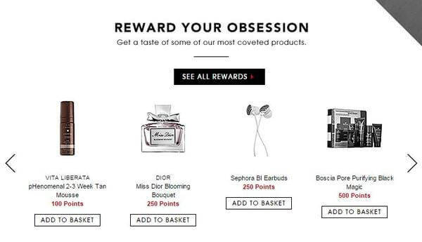 Sephora customer loyalty and rewards CRM strategy