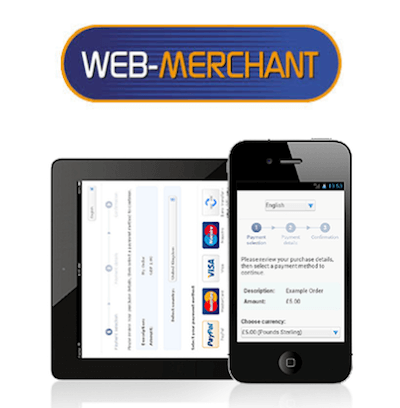 Web-Merchant Services virtual terminal logo and interface