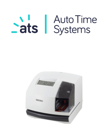 ATS logo and clocking-in system