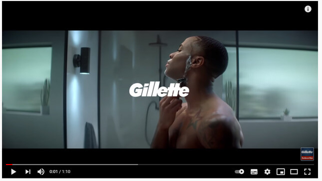 gillette advert