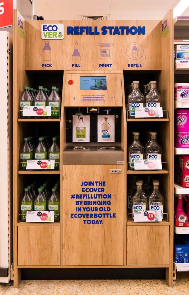 Sainsbury's refill station