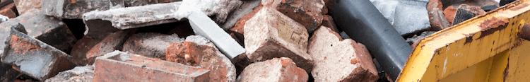 Bricks in a skip