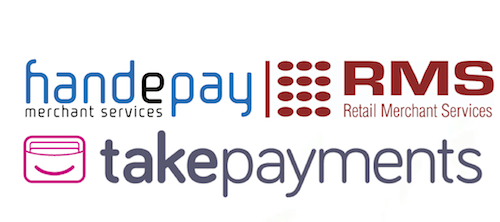 ISOs logos –Handepay, RMS, takepayments
